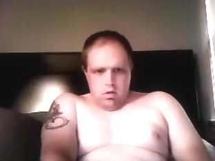 Nice-looking boyfriend is having a good time in his room and filming himself on web cam