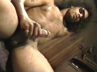 Afro Dude Stroking His Big Dick