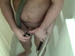 Self enema in my gas mask, drinking my urinate, jerking off