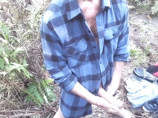 Afternoon second edging session near the small creek (half naked) #3