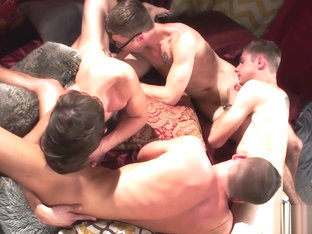 Andy, Kody, Brad And Blakes Orgy