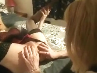 2 tgirls having fun