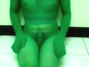 full body green pantyhose