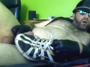Cum On Leather Nike Shox Sneakers Fetish