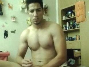 Straight Guy Jerks Huge Cock on Webcam