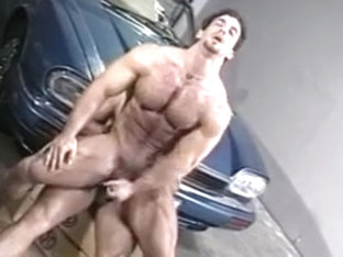 Stunning muscular guys go dirty