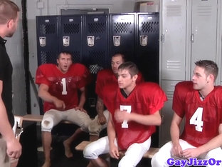 Bukkake loving nfl players in lockerroom fucking