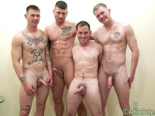 DJ, Dorian, Jack & Ransom Military Porn Video