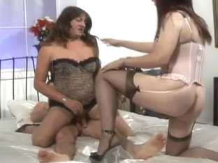 Threesome with crossdressers