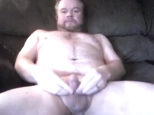 Jerkin Out a Load of Cum On the Daybed