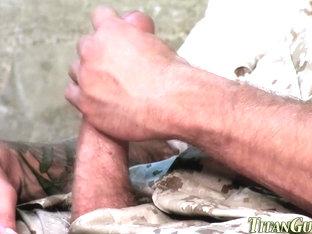 Buff gay soldiers jizz