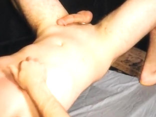 Chance balls deep, tummy bulge, cum