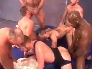 Big hot gay orgy