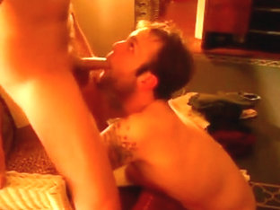 dad facefucks son and cums in his mouth