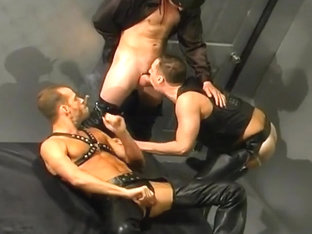 Leather Clad Men Having Gay Sex