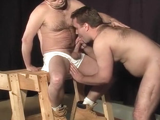 Helpless Stud Tied Up And Ass Pumped By Two Separate Guys