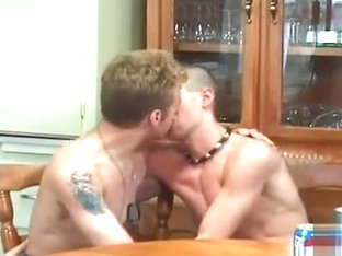 Tender kissing after drinking beer