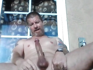 Stroking my cock until I cum on the deck