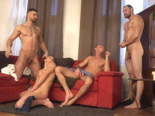 [WH] Wank Party # (behind the scenes)