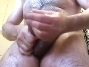 Naughty hairy me during shower