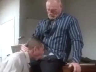 Gray Office Dude Gets Fucked