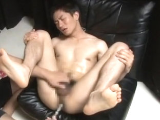 Crazy Asian homosexual dudes in Exotic fingering, dildos/toys JAV clip