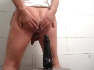 Big fat dildo anal