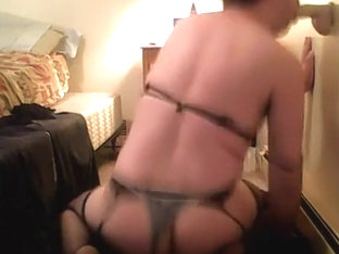 Cock Slut Playing With Two Dildos