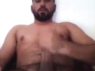 Indian Bearded Man Cum