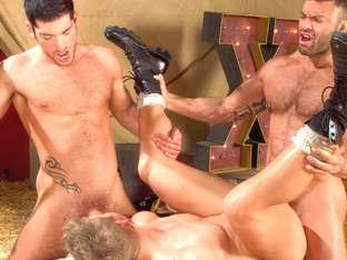 Leo Domenico & Logan Vaughn & Rogan Richards in Behind The Big Top, Scene #01