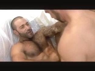 Horny gay guy does blowjob and rimming to his boyfriend