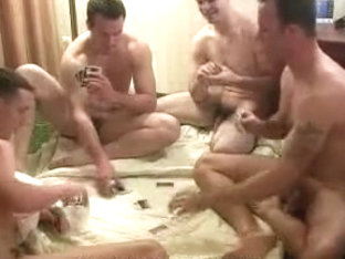 Hottest male in exotic handjob, group sex gay adult clip
