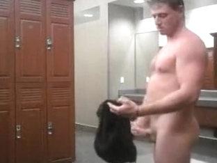 Hottest male in amazing public sex, handjob homo sex clip