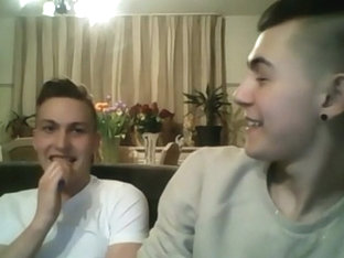 Romanian Italian Boys Have Fun On Webcam