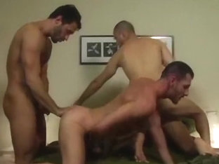 Fabulous male in incredible group sex, hunks gay sex video