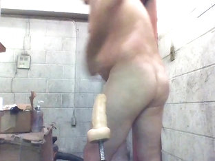 Long machine cock joey gapes n squirts