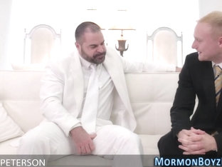 Bear raw fucks mormon ass
