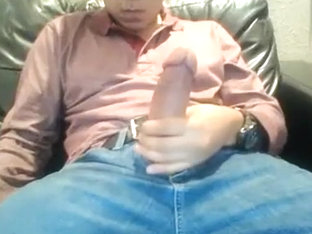 Young Latino Strokes His Thick Cock On Webcam