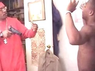 Dark homo dude acquires drilled by dude with gun II