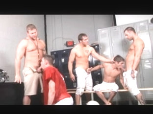 Coach gets all the hot gay asses in team