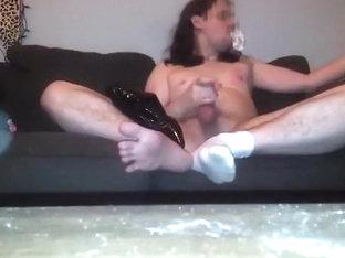 Dress, Wax, sox, foot fetish and masturbation
