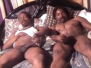 Black Studs Watch Each Other Masturbate