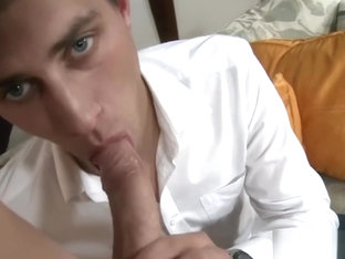 Hot twink casting with facial