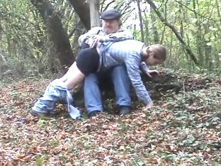 Do boys get spanked in the woods ?