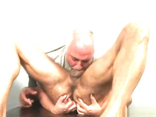 Arpad Miklos gets massaged by Jake Cruise