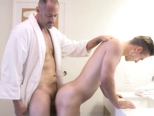 Stepdad And Twink Step Son Fuck After Needing Help Shaving