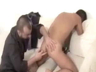 OLDER suited BEARDED mans sucking RIM FUCK BOYS ass