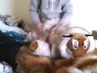 Fur, plushie and hoodie play