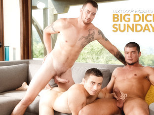 Mark Long & Dante Martin & Brad A in Big Dick Sunday XXX Video
