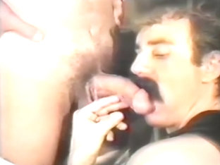 Homo clips with facial, leather and hair